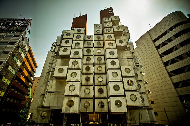 Nakagin Capsule Tower front view