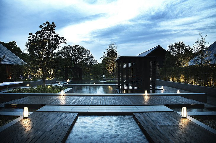 Amanemu spa small outdoor pools