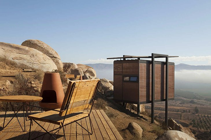 Hotel Endemico terrace with landscape views