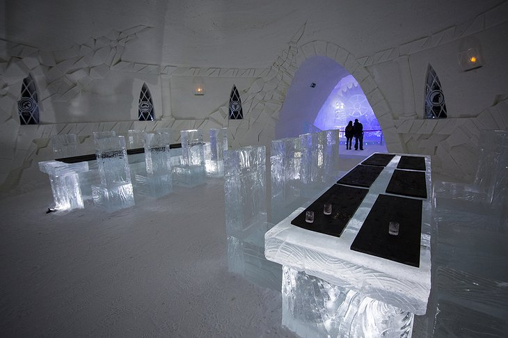 Lapland Hotels SnowVillage Ice Dining