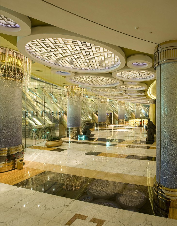 Grand Lisboa Macau lobby luxurious design