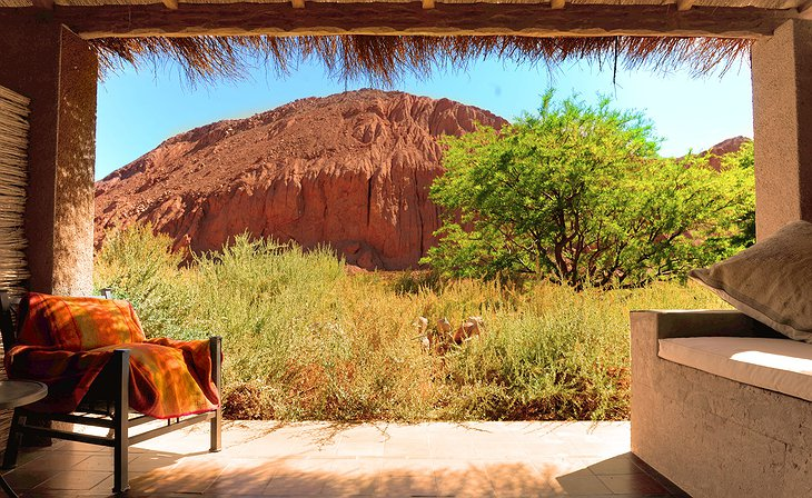 Alto Atacama private terrace