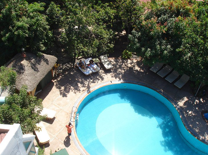 Safari Lodge Adama hotel view from top on the swimming pool