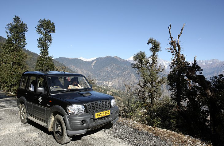 Shakti jeep high in the mountains