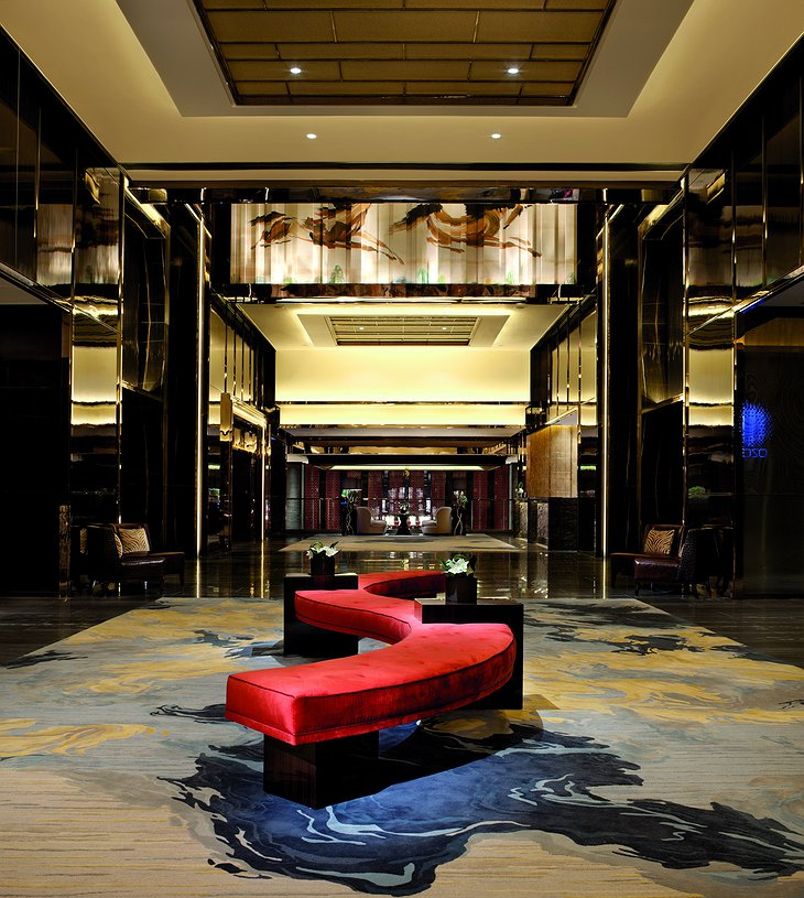 Ritz-Carlton Hong Kong reception lobby on the
