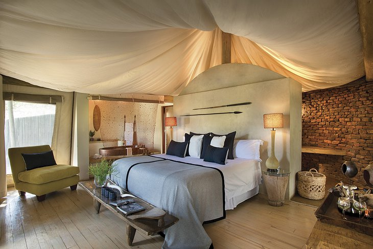 Marataba Safari Lodge tent interior