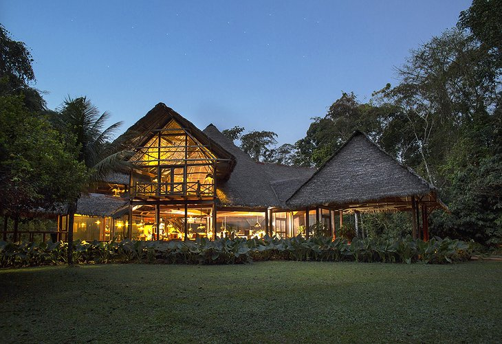 Inkaterra Reserva Amazonica Lodge at night