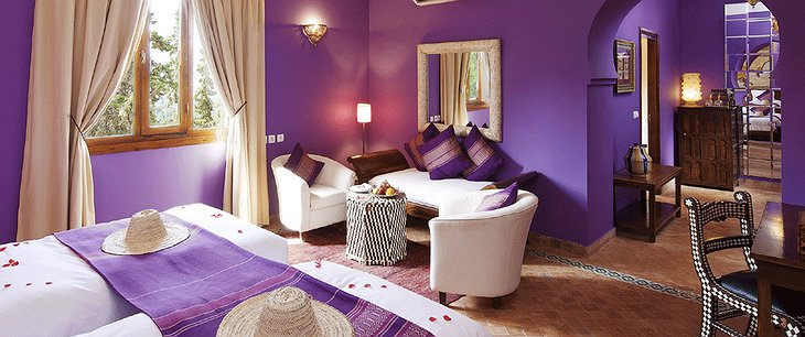 Kasbah Tamadot purple room