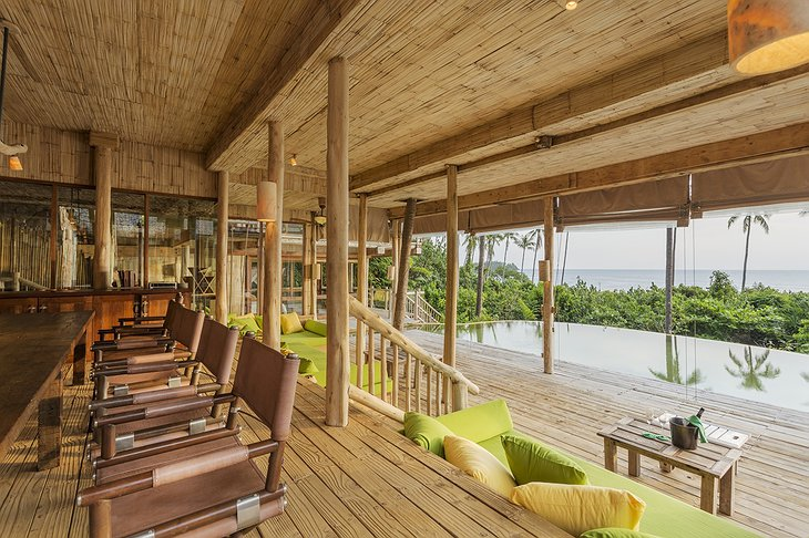 Soneva Kiri Private Cliff Pool Reserve 4BR dining area