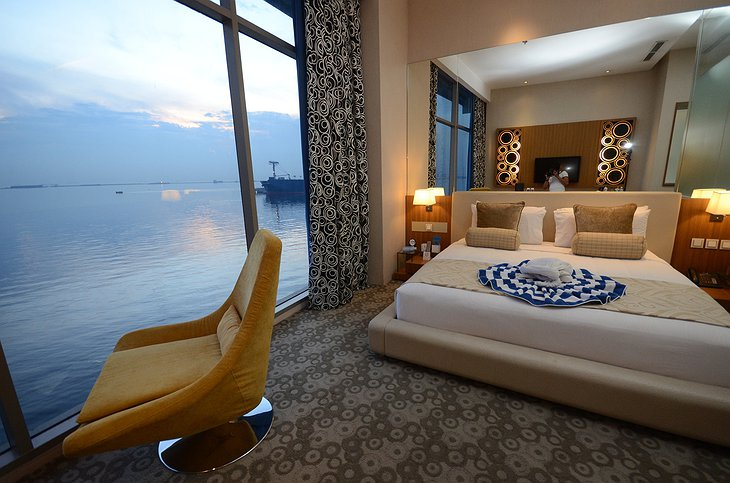 Hotel H2O bedroom with sea panorama