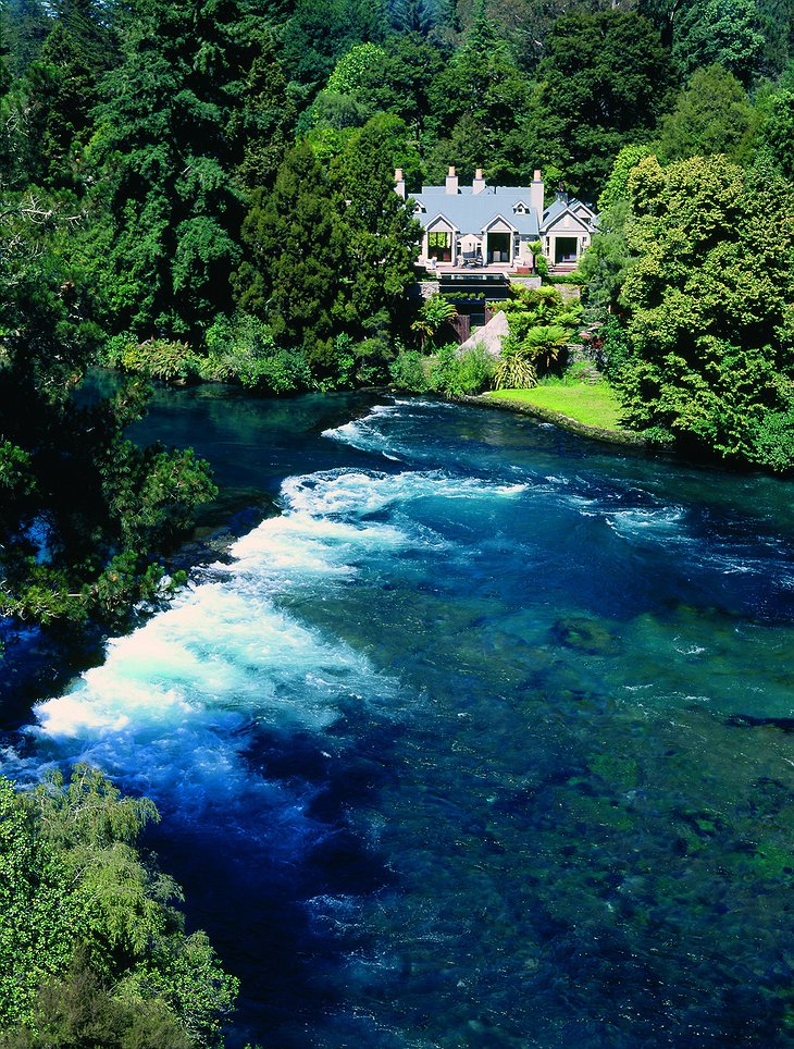 Huka Lodge On The Banks Of The Waikato River