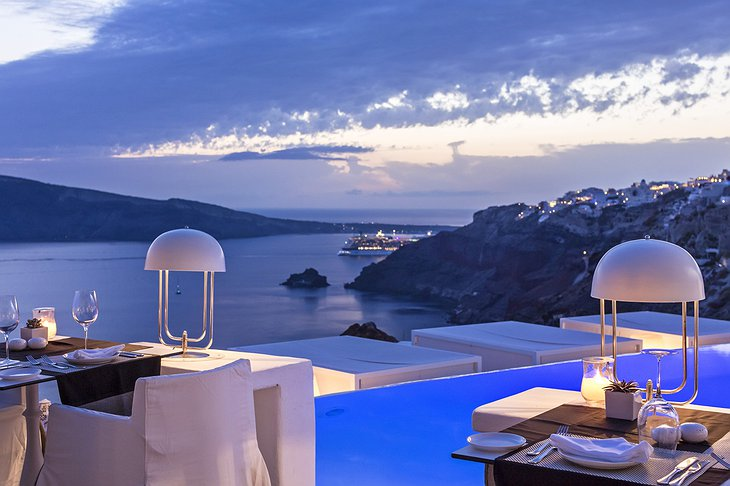 Anthos Restaurant Santorini view