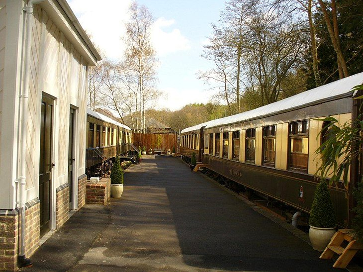 Pullman train carriage hotel