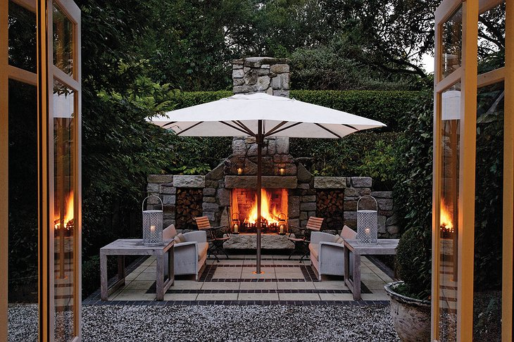 Outdoor Fireplace At The Owner's Cottage