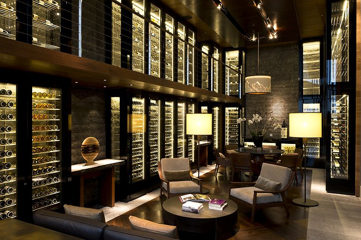 The Chedi Andermatt wine cigar library