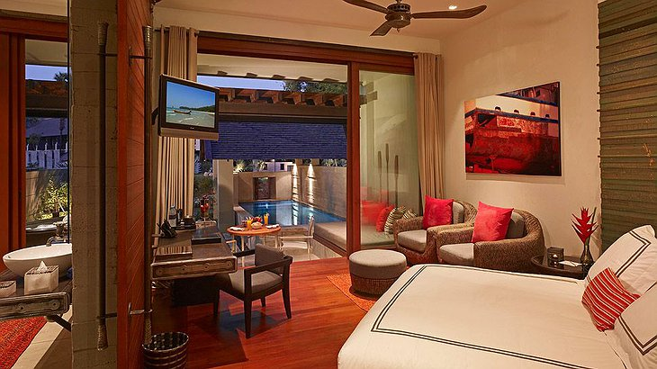 Indigo Pearl room with pool