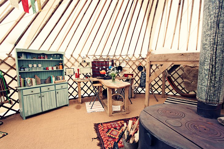 Black Mountains Yurt hand-made furniture