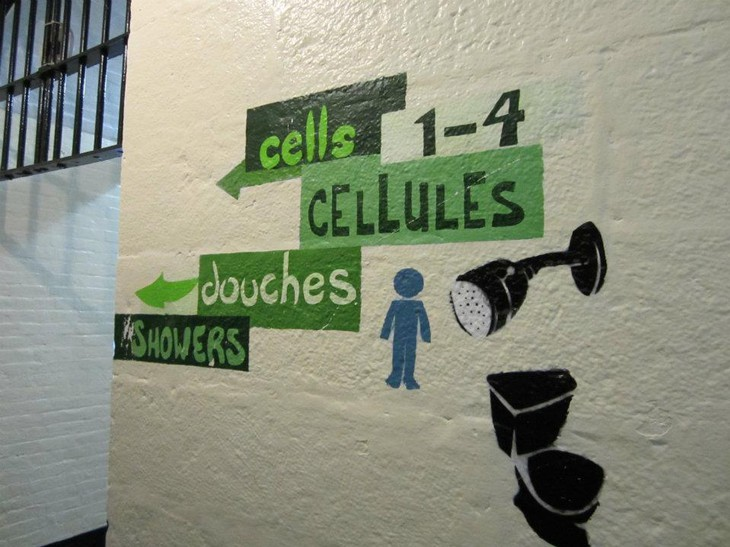 Ottawa Jail Hostel signs on the wall