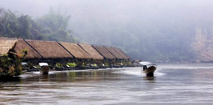 River Kwai Jungle Rafts - Floating Hotel In Thailand