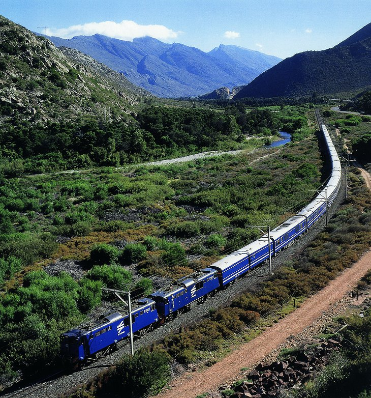 The Blue Train aerial photo