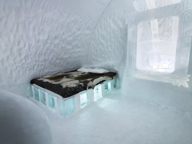 Freeze Frame suite in Ice Hotel Sweden