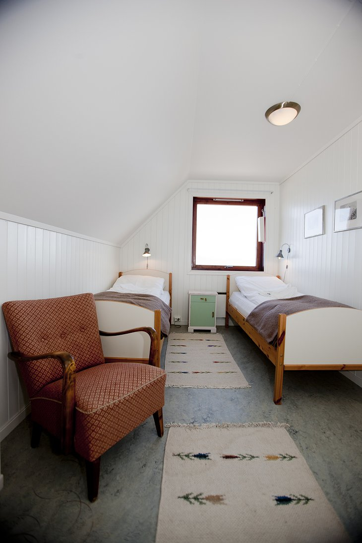 Svinoy Lighthouse twin room