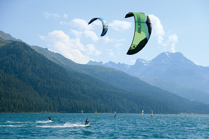 Alpine kite surf