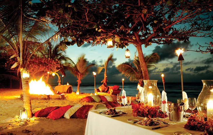 Necker Island dining at night