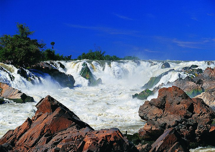 Mekong river waterfall