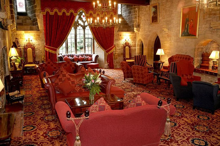 Langley Castle Hotel lounge
