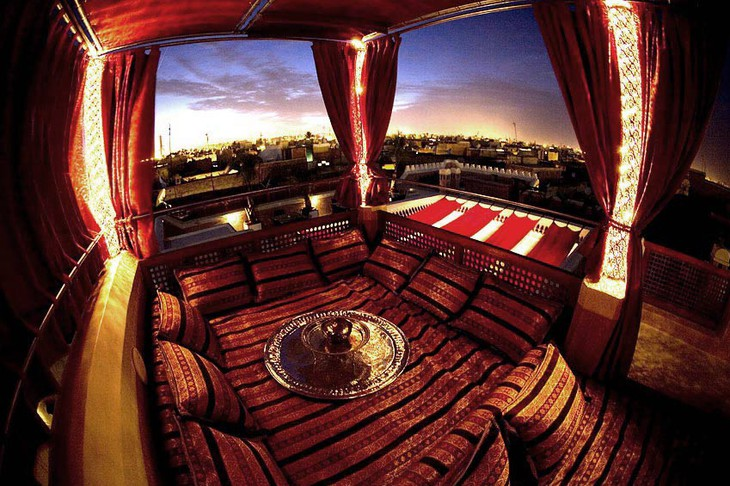 Riad AnaYela rooftop hookah place