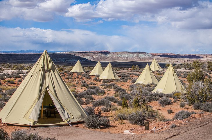 Moab Under Canvas tents