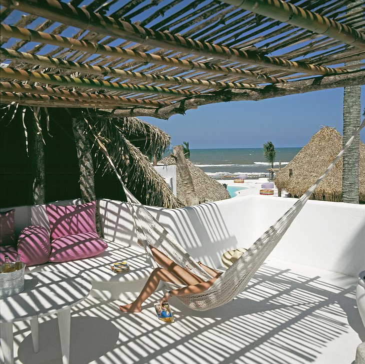 Hotel Azucar hammock with sea view