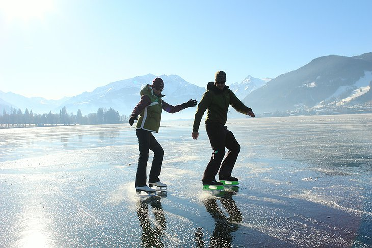 Ice skating on Lake Zell