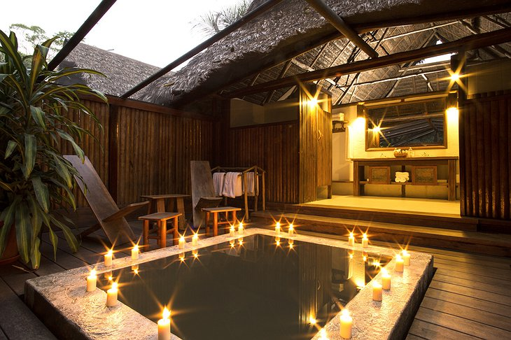 Inkaterra Reserva Amazonica Lodge Private Pool with Candles