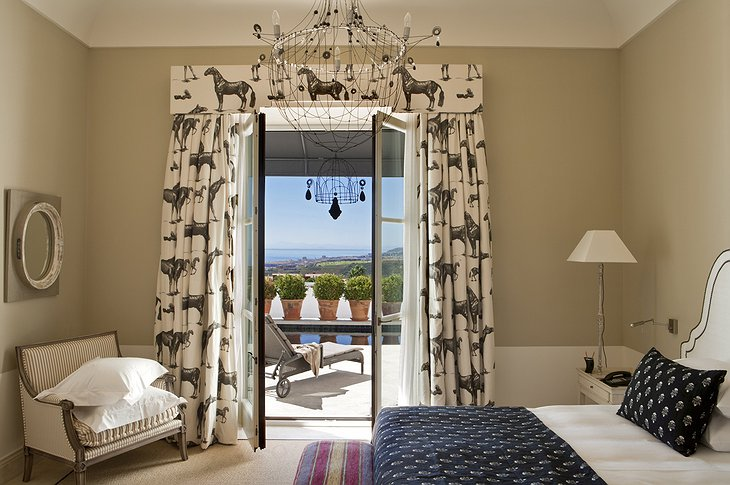Finca Cortesin Hotel bedroom with private pool