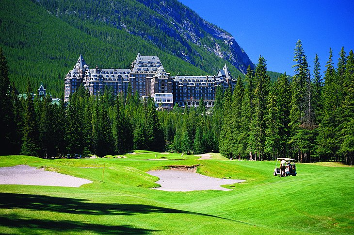 Fairmont Banff Springs Hotel and golf course