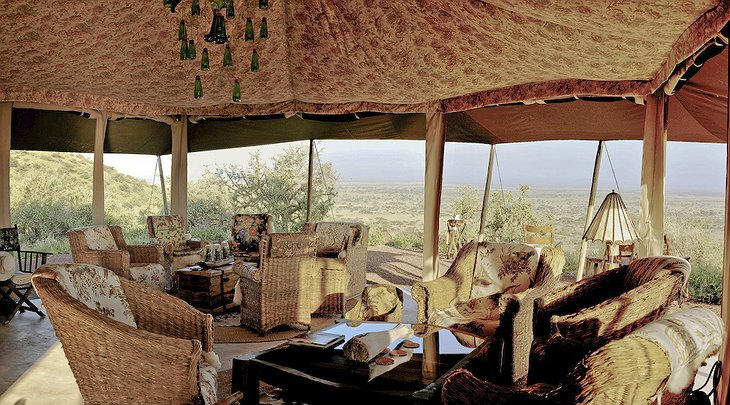 Shu'mata Camp tent interior