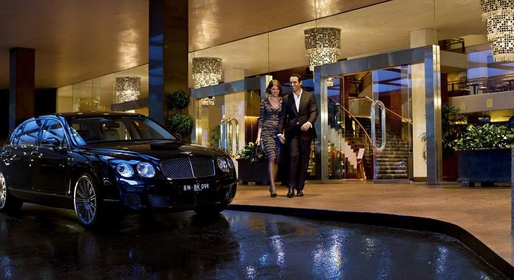 Bentley at the entrance of Four Seasons Sydney