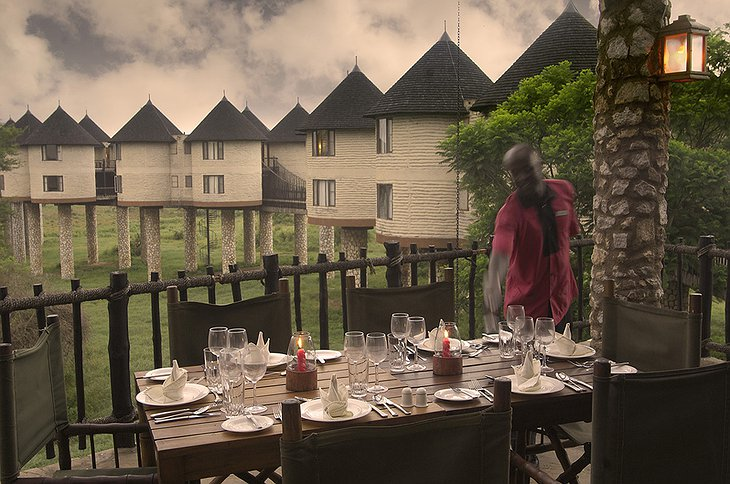 Sarova Salt Lick Game Lodge restaurant terrace