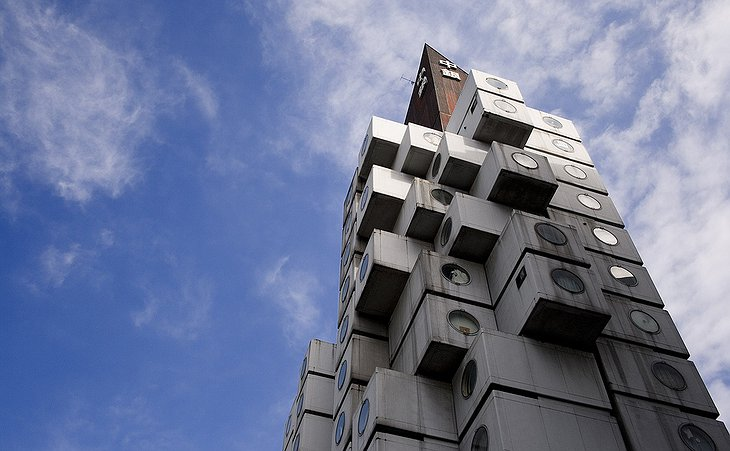 Nakagin Capsule Tower top
