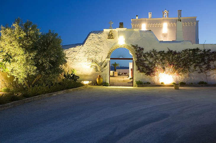 Masseria Torre Coccaro building entrance