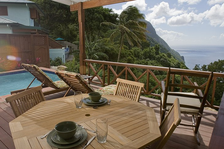 Ladera Resort tropical views
