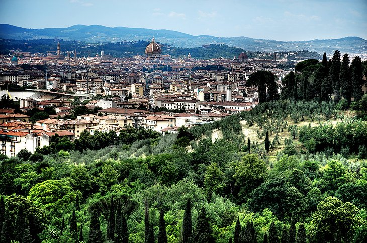 Panoramic view on Florence