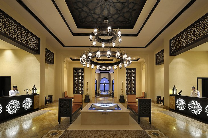 Qasr Al Sarab Desert Resort main reception
