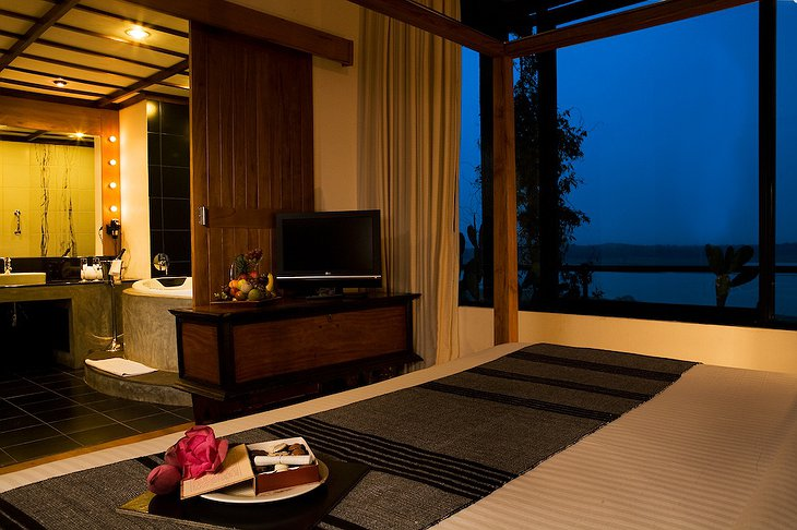 Heritance Kandalama Hotel room at night