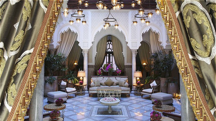The riad dhonneur at the Royal Mansour Marrakech