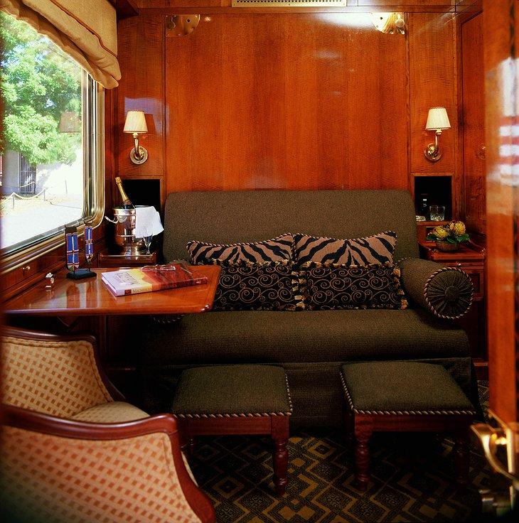 The Blue Train luxury suite