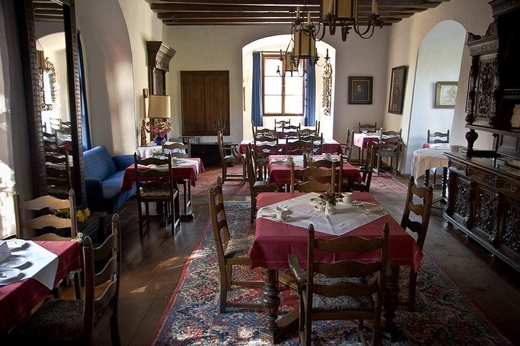 Hotel Burg Oberranna dining place