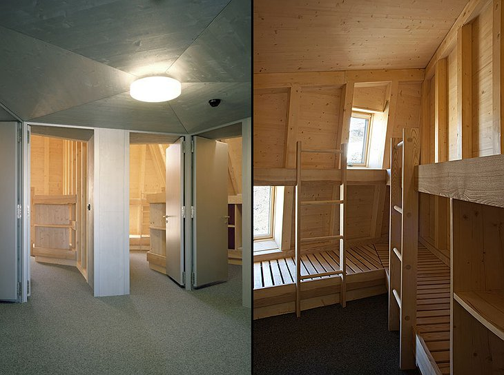 The New Monte Rosa Hut rooms